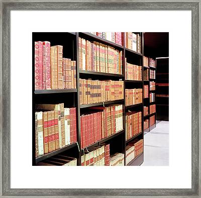 British Library King's Library Framed Print by British Library