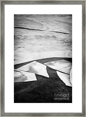 Broken Ice Framed Print by Elena Elisseeva