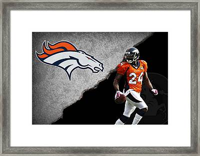 Broncos Champ Bailey Framed Print by Joe Hamilton