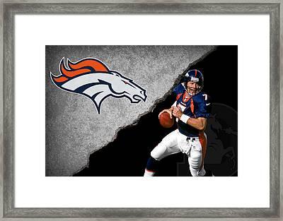 Broncos John Elway Framed Print by Joe Hamilton