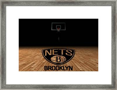 Brooklyn Nets Framed Print by Joe Hamilton