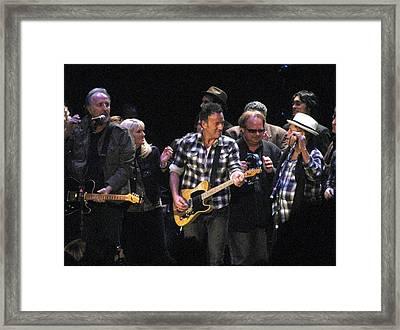 Bruce Springsteen Framed Print by Melinda Saminski