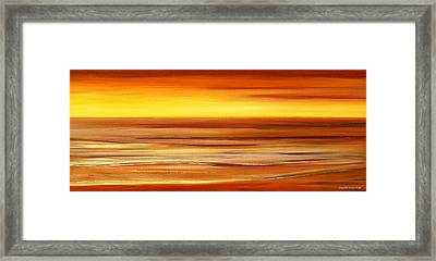 Brushed 3 Framed Print by Gina De Gorna