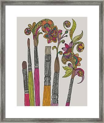 Brushes Framed Print by Valentina