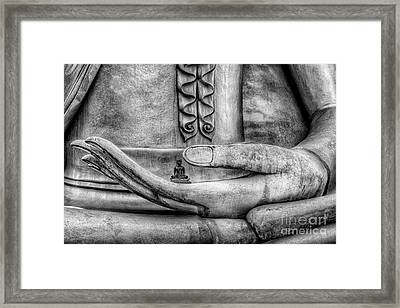 Buddha Hand Framed Print by Adrian Evans