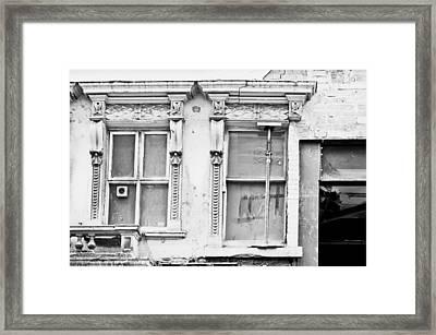 Building Repair Framed Print by Tom Gowanlock