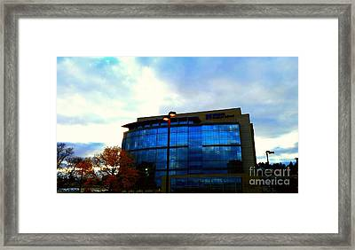 Building Framed Print by Rose Wang