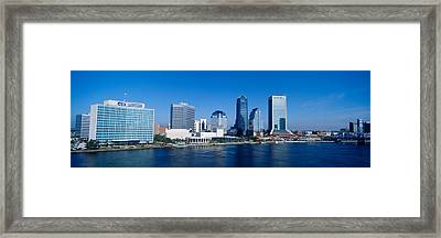 Buildings At The Waterfront, St. Johns Framed Print by Panoramic Images