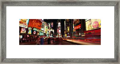 Buildings In A City, Broadway, Times Framed Print by Panoramic Images