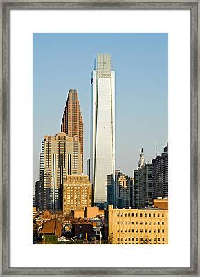 Buildings In A City, Comcast Center Framed Print by Panoramic Images