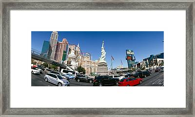 Buildings In A City, New York New York Framed Print by Panoramic Images