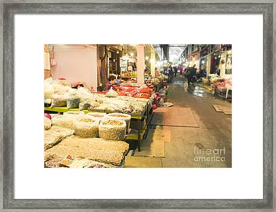 Bujeon Market In Busan Framed Print by Tuimages