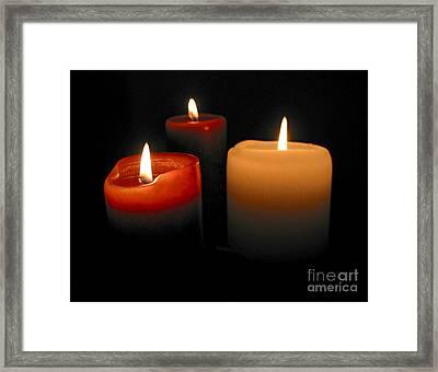 Burning Candles Framed Print by Elena Elisseeva