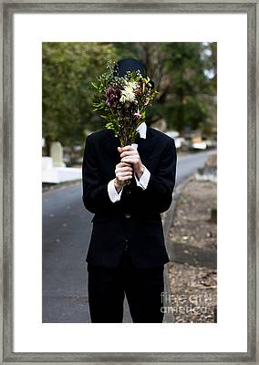 Burying Face In Funeral Flowers Framed Print by Jorgo Photography - Wall Art Gallery