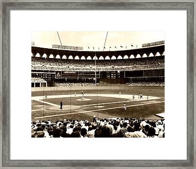 Busch Stadium - St Louis 1966 Framed Print by Mountain Dreams