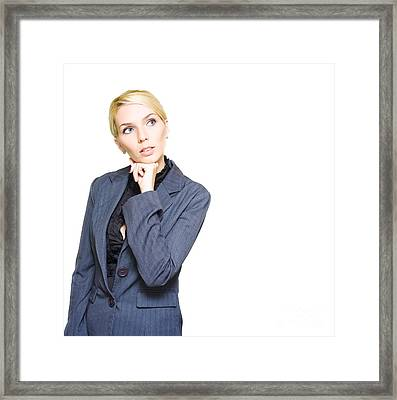 Business Idea Framed Print by Jorgo Photography - Wall Art Gallery