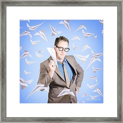 Business Man On International Business Travel Framed Print by Jorgo Photography - Wall Art Gallery