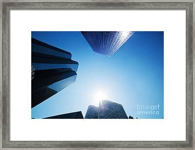 Business Skyscrapers Framed Print by Michal Bednarek