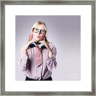 Businesswoman Planning Future Business Strategy Framed Print by Jorgo Photography - Wall Art Gallery