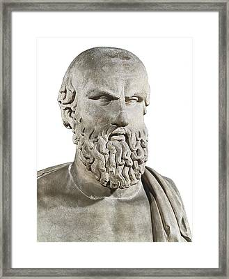 Bust Of Aeschylus. 5th C. Bc. Greek Framed Print by Everett