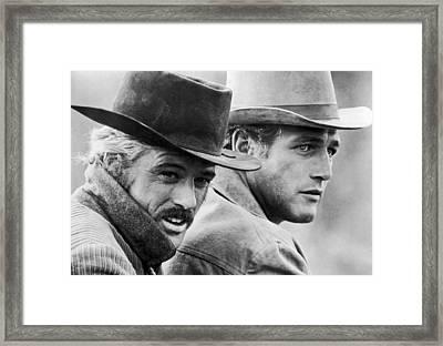 Butch Cassidy And The Sundance Kid Framed Print by Georgia Fowler