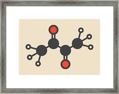 Butter Flavouring Molecule Framed Print by Molekuul