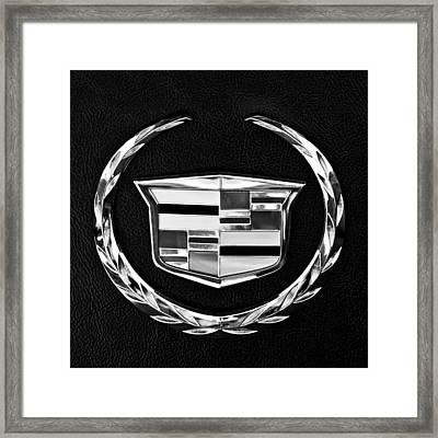 Cadillac Emblem Framed Print by Jill Reger
