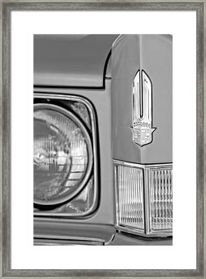 Cadillac Headlight Emblem Framed Print by Jill Reger