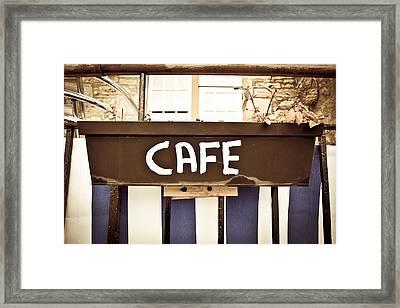 Cafe Sign Framed Print by Tom Gowanlock