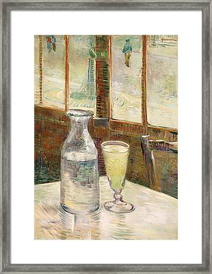 Cafe Table With Absinth  Framed Print by Mountain Dreams