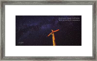 Campfire Totem Framed Print by Aaron S Bedell