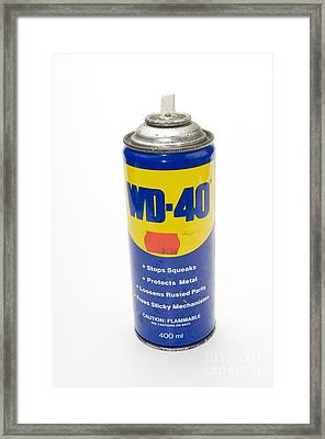 Can Of Wd-40 Oil Framed Print by PhotoStock-Israel