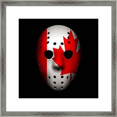 Canada Goalie Mask Framed Print by Joe Hamilton