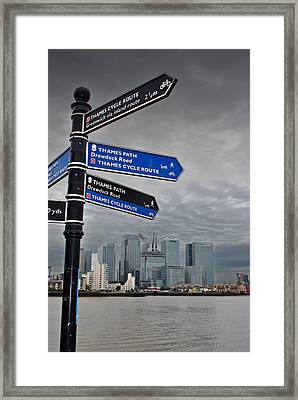 Canary Wharf City Of London   Framed Print by Andy Evans