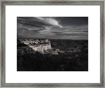 Canyon Shadows Framed Print by Andrew Soundarajan