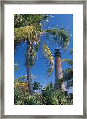 Cape Florida Lighthouse, Fl Framed Print by Bruce Roberts