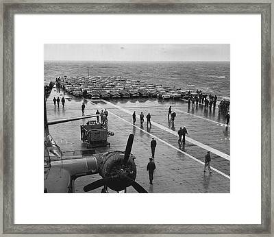 Car Lined Carrier Deck Framed Print by Retro Images Archive