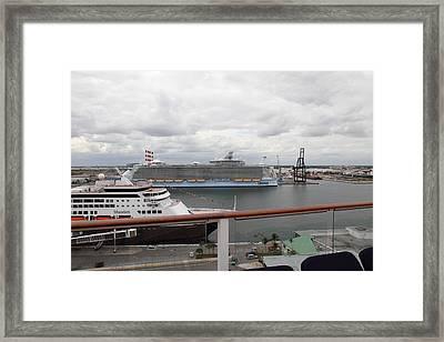 Caribbean Cruise - On Board Ship - 121214 Framed Print by DC Photographer