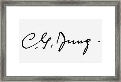Carl Gustav Jung  Framed Print by Granger