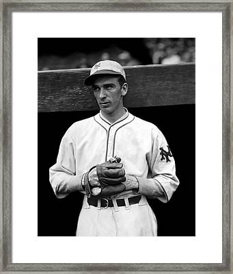 Carl O. Hubbell Framed Print by Retro Images Archive
