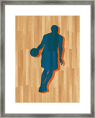 Carmelo Anthony New York Knicks Framed Print by Joe Hamilton
