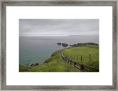 Carrick-a-rede Path Ireland Framed Print by Betsy C Knapp