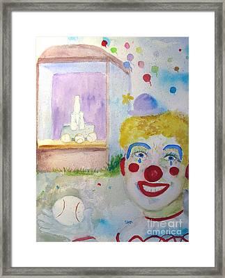 Carrie The Clown Framed Print by Sandy McIntire