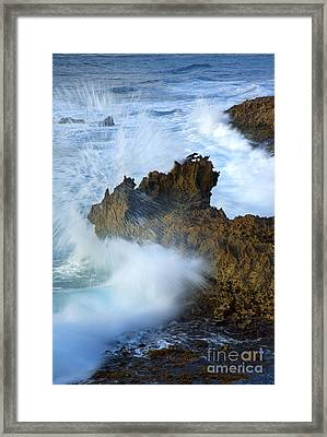 Carved By The Sea Framed Print by Mike  Dawson