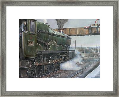 Castle Class 4.6.0. Framed Print by Mike  Jeffries