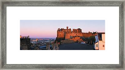 Castle In A City, Edinburgh Castle Framed Print by Panoramic Images
