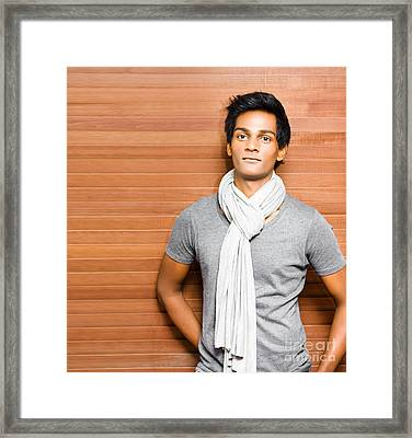 Casual Young Asian Man Framed Print by Jorgo Photography - Wall Art Gallery