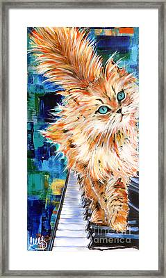 Cat Orange Framed Print by Melanie D