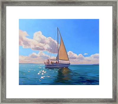 Catching The Wind Framed Print by Dianne Panarelli Miller