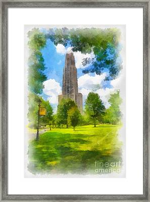 Cathedral Of Learning University Of Pittsburgh Framed Print by Amy Cicconi